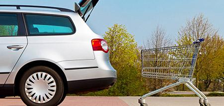 Lackschutz - Auto + Einkaufswagen
