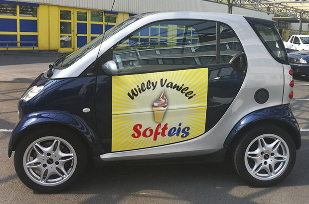 Designfolierung Smart Softeis