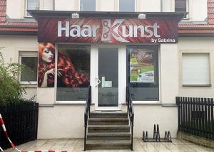 Friseursalon Außenwerbung