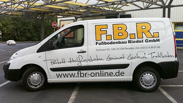 Designfolierung Transporter Handwerksbetrieb