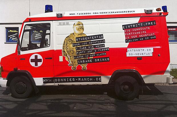Krankenwagen Designfolierung