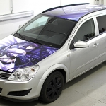 Opel Astra Manga Designfolierung