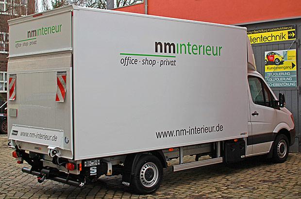 Mercedes Koffer Designfolierung