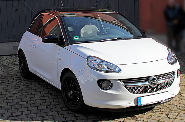 Opel Adam Schwarz Wei 223 Autofolierung In Dresden