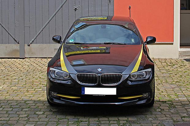 BMW-3er Cabrio Teilfolierung
