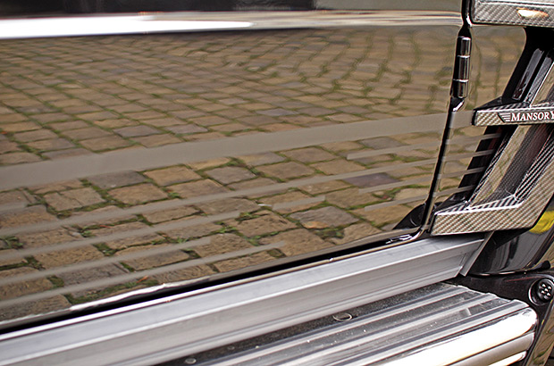 Mercedes G65 Teilfolierung