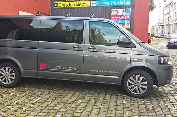 VW T5 Transporter Teilfolierung
