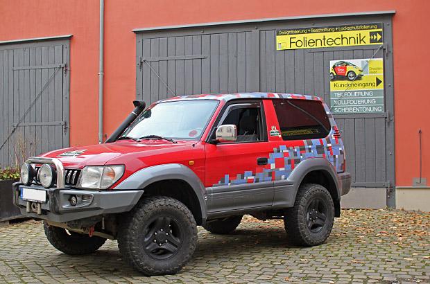 Toyota Land Cruiser Teilfolierung