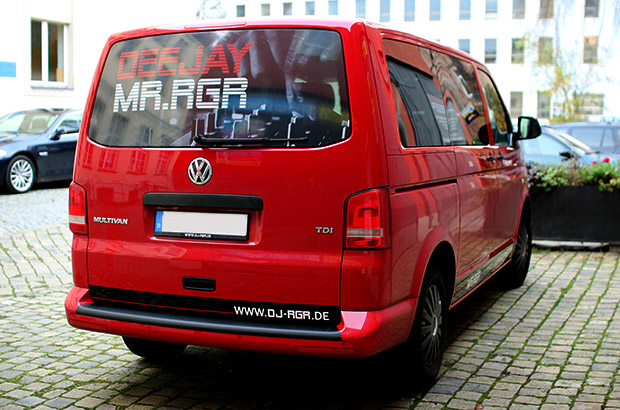 VW T5, Teilfolierung, Werbung
