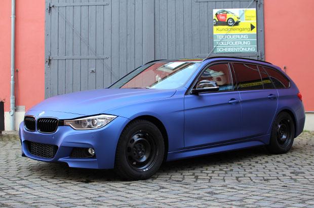 BMW M3 Touring, Vollfolierung, Teilfolierung