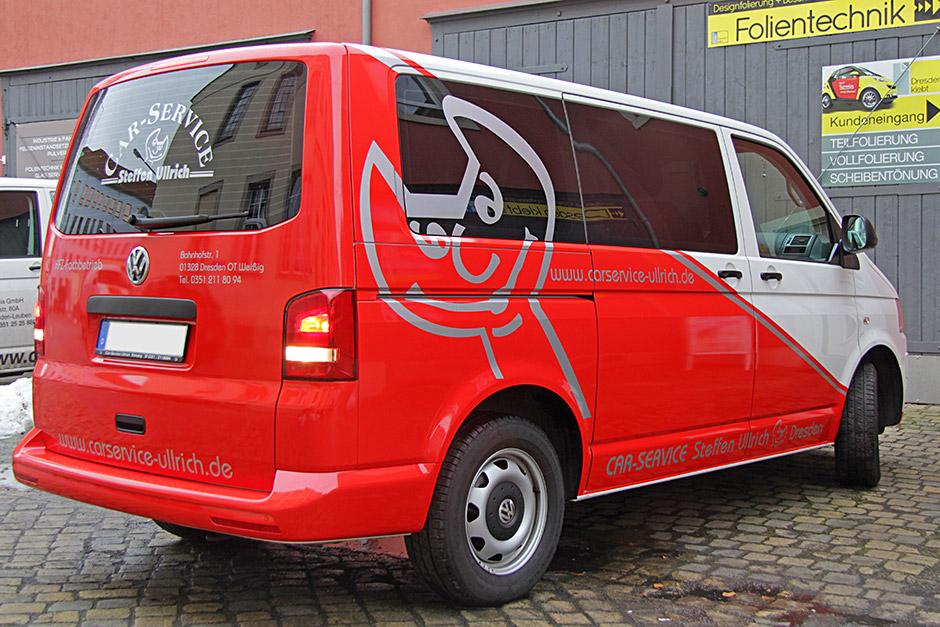 VW T5 Designfolierung Werbung