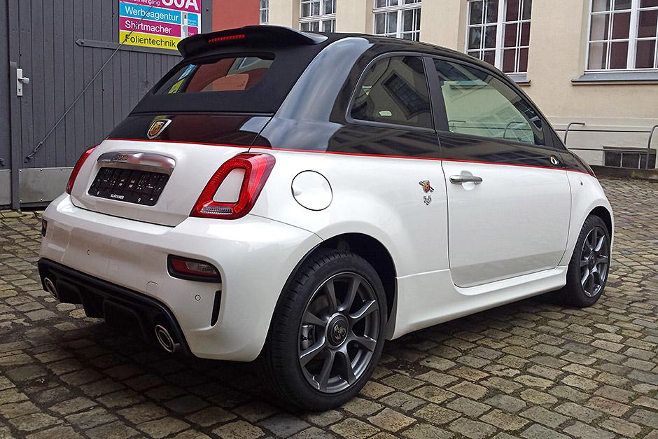 Fiat 500 - Abarth Teilfolierung