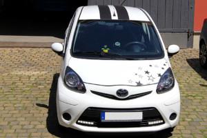 Toyota Aygo Teilfolierung