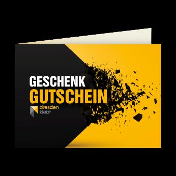 Geschenkgutschein - Dresden klebt