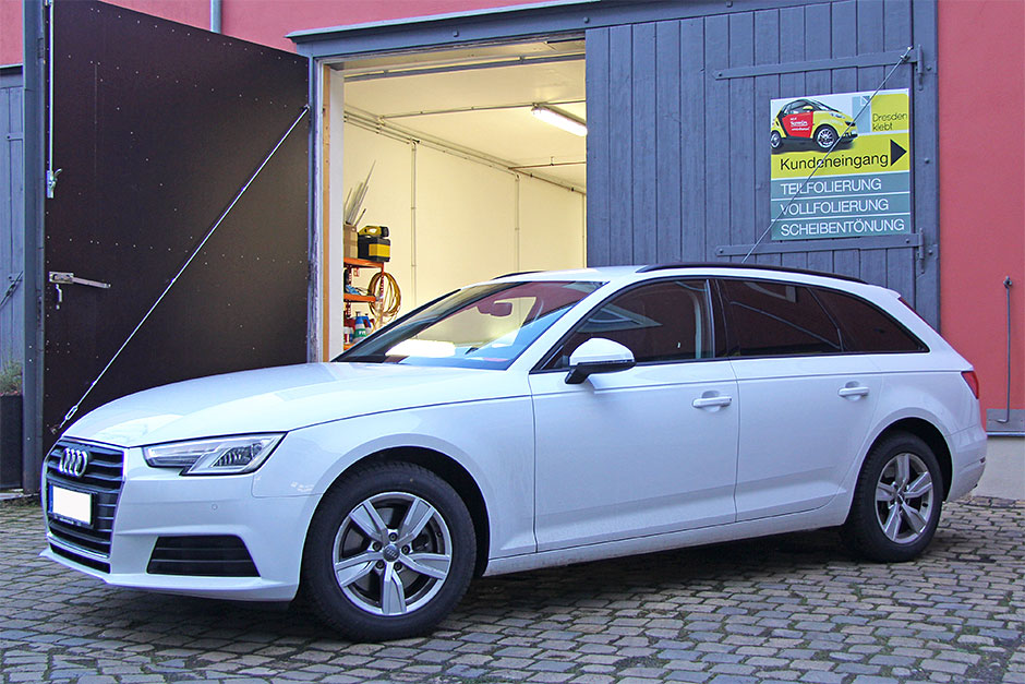 Audi-A6-Kombi Scheibentönung