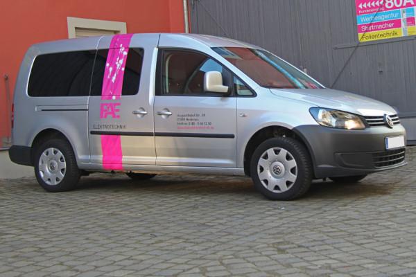 VW Caddy Teilfolierung