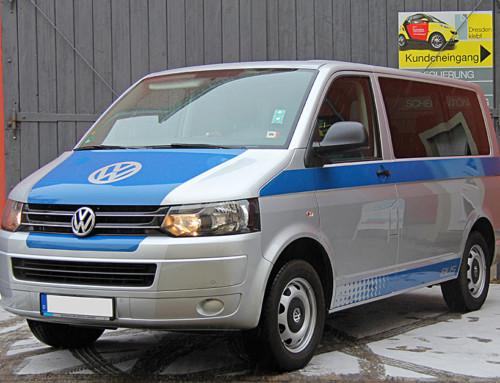 Volkswagen T5 Bus – Teilfolierung