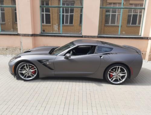 Corvette Vollfolierung Matt Metallic Charcoal