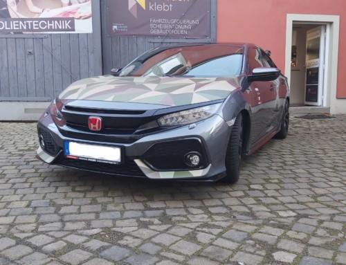 Teilfolierung Honda Civic Camouflage