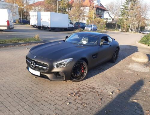 Mercedes GT Matt Schwarz Vollfolierung